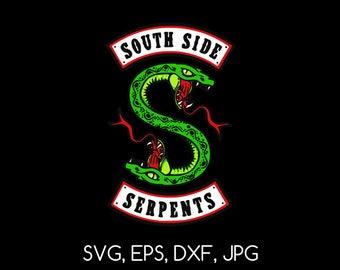 Southside Serpents - SVG, EPS, DXF, jpg digital cut file for Silhouette or Cricut
