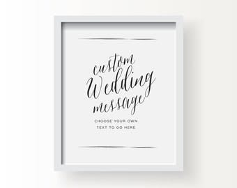 8x10_Black on White Custom Wedding Sign