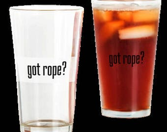 got rope? Drinking Glass