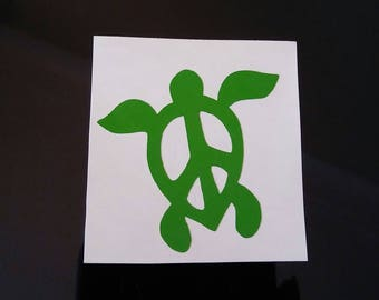 Peace Sea Turtle Decal