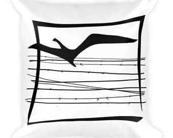 Free bird - Square Pillow