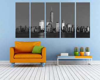 NYC Manhattan Canvas Art - New York City Wall Art - Times Square Art -  Free Shipping - Perfect Living Room Gift - Gift Ideas
