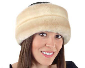 Faux Fur Headband, LATTE Fur Headband / Neck Warmer