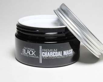Detoxifying Charcoal Peel Off Mask. Blackhead Removing Mask.Activated Charcoal Deep Cleansing Purifying Peel-Off Acne Mask. Black Mask