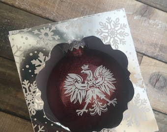 Polish eagle christmas ornament