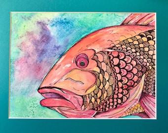 Watercolor Snapper