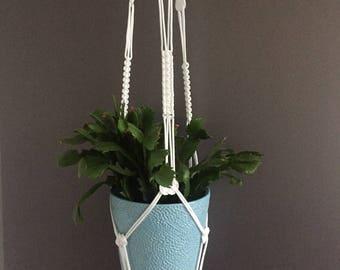 XL macrame plantenhanger, muurdecoratie, plant hanger, plant holder, hanging planter, modern macrame, home decor, wall decor.