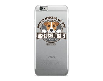 Proud Member of the Jack Russell Terrier Fan Group Dog Rescue Donation iPhone Case