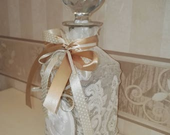 Bottle Crystal Lace Cameo-Cristal bottles with cameo