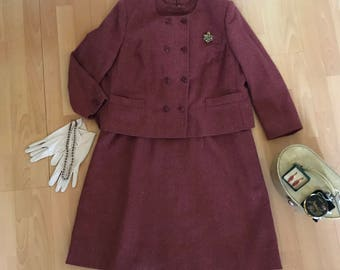 Vintage Tailor made wool Dress Suit