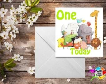 Animals Birthday Card