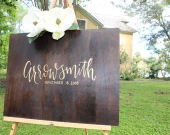 Last Name - Wood Sign