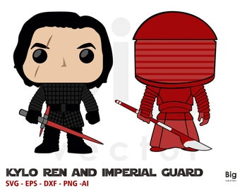 Kylo ren and imperial guard Svg, Ai, Eps, Dxf, Png printable and cuttable files
