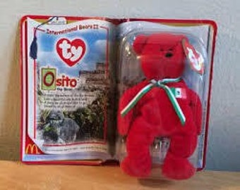 TY McDonald's Beanie Babies OSITO the Bear 1999 *New in package*