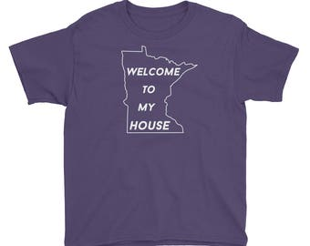 Welcome to My House Youth Short Sleeve T-Shirt
