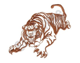 Tiger - Machine Embroidery Design
