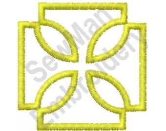 Maltese Cross - Machine Embroidery Design, Cross