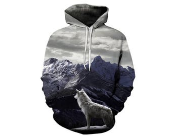 Wolf Hoodie, Wolf, Wolf Hoodies, Animal Prints, Animal Hoodie, Animal Hoodies, Wolves, Hoodie Wolf, Hoodie, 3d Hoodie, 3d Hoodies - Style 29