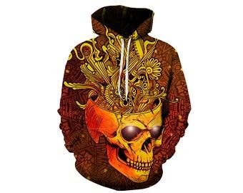 Skull Hoodie, Skull, Skull Hoodies, Skull Prints, Scalp Hoodie, Gothic, Skeleton, Skulls, Scalp, Hoodie, 3d Hoodie, 3d Hoodies - Style 7