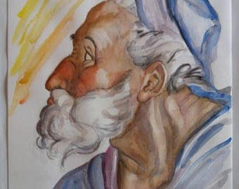 The Prophet Ezekiel-watercolour No. 16-2003