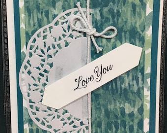 Love you, Handmade Cards