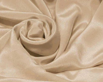 "Pure Mulberry Silk Sample/ Yards/Meters Pure Silk Fabric Crepe De Chine 45"" wide 14momme fawn crepe-4-14mm"