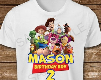 ON SALE 30% Toy Story Birthday Boy Iron On Transfer. Toy Story Iron On Transfer. Toy Story Birthday Boy Iron On T-Shirt Printable.