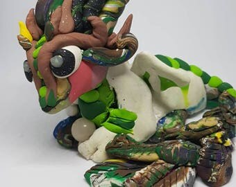 Scrap Dragon Figurine