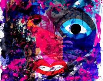 Colorful Abstract Portrait Painting