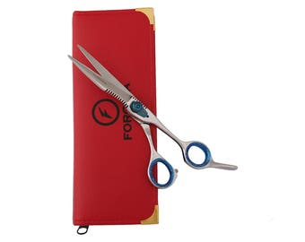 Professional Salon Shears Hairdressing Scissors Titanium Blue Screw