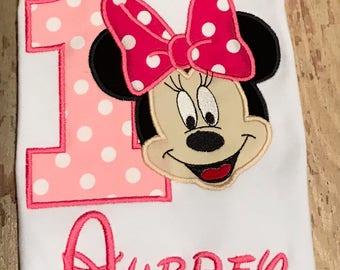 Minnie Mouse Birthday Shirt / Minnie Shirt / Birthday Shirt / Disney Shirt