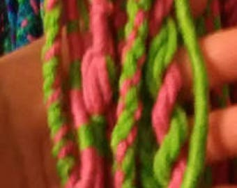 homemade dreads, custom made with your choice of colors and yarn types
