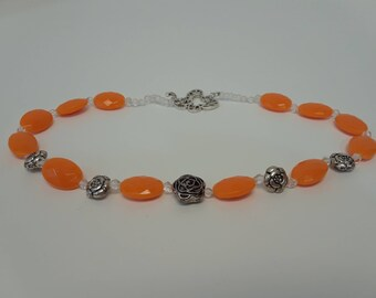 Orange & Roses Necklace