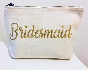 Personalised Make-up Bag,Wedding Party,Wedding Day,Wedding Gift,Personalised,Bridal Party,Hen Party,Bachelorette Party,Bridesmaid Gift