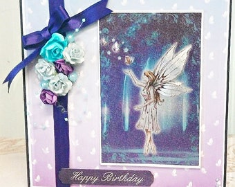 Foil Etched Fairy Birthday