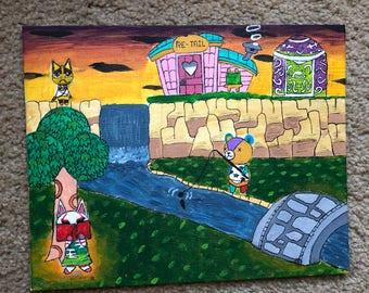 Animal Crossing Sunset Painting