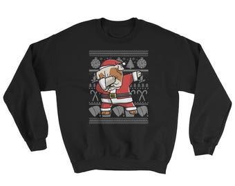 Funny Dabbing English Bulldog Ugly Christmas Sweater Cute Dog Gift