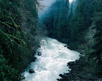 Misty Pacific Northwest River Photograph