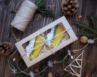 Natural soap Mulled wine / Orange,  Cinnamon and Anise soap bars / Cold process handmade soap / gift box