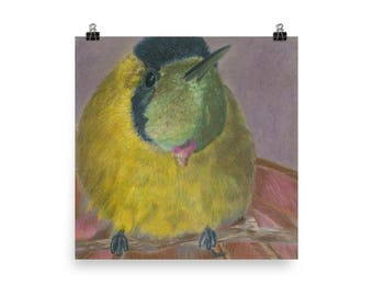 Yellow Bird - Beautiful Archival Cotton Rag Fine Art Giclée Print Supporting the Nonprofit Fresh Artists