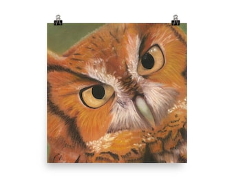Spotted Owl - Beautiful Archival Cotton Rag Fine Art Giclée Print Supporting the Nonprofit Fresh Artists