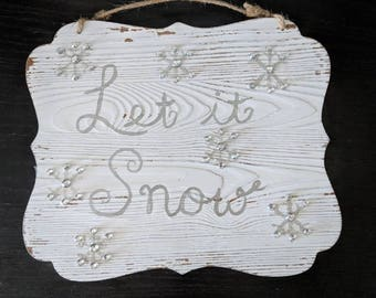 Let it Snow Christmas Wall Decor