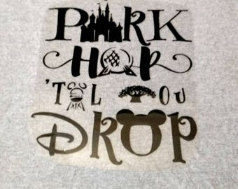 Iron on transfers for Magical Vacations,  Iron on Decal,  Heat Transfer, Iron on Vinyl, DIY Iron on Shirts, Group Shirts, Park Hop Drop