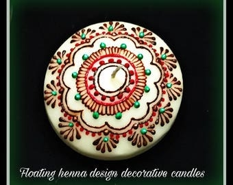 10 pack-Handmade decorative floating candles