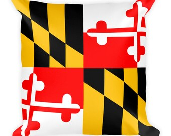 Maryland Flag Square Pillow