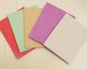 Handmade Embossed All Occasion Greeting Cards, Set of 5, Handmade Greeting Card, Colorgul Card,  Made in the USA, #89