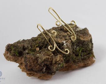 Natural Earrings - 925 Sterling Silver / Gold Plated