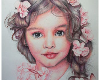 Art,colored pencils drawing