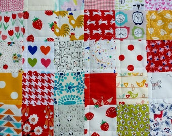 Handmade Contemporary Baby/Toddler Patchwork Quilt