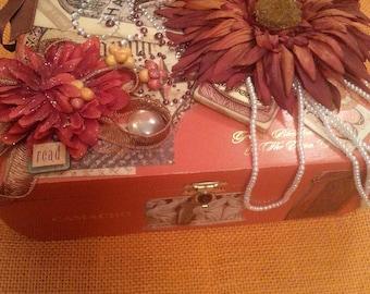 Fall in a box-Altered Cigar Box